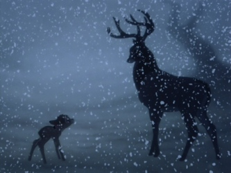 bambi-stag-snow